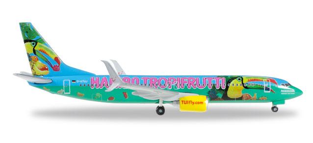 "Herpa Wings TUIfly Boeing 737-800 1:500 ""Haribo Tropifrutti"" Registration D-ATUJ"
