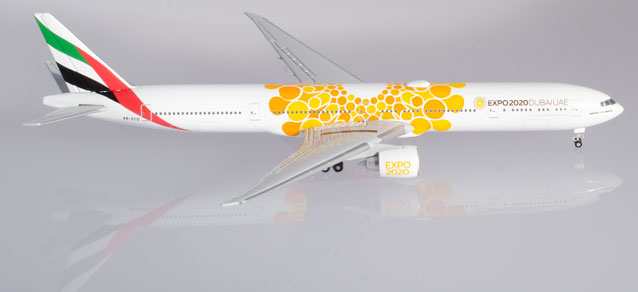 """Herpa Wings Emirates Boeing 777-300ER Expo 2020 Dubai, """"Opportunity"""" Livery 1:500"""