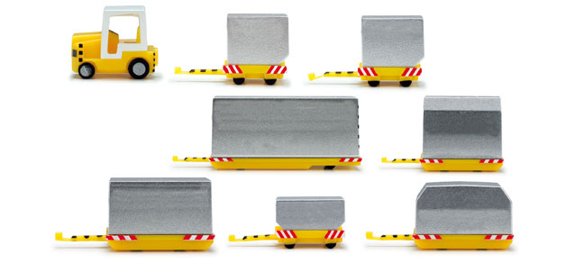 Herpa Wings Airport Acc.: Container vehicles 1:200