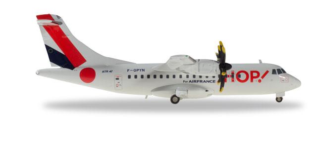 Herpa Wings Hop! For Air France ATR-42-500 1:200 Registration F-GPYN [Metal]