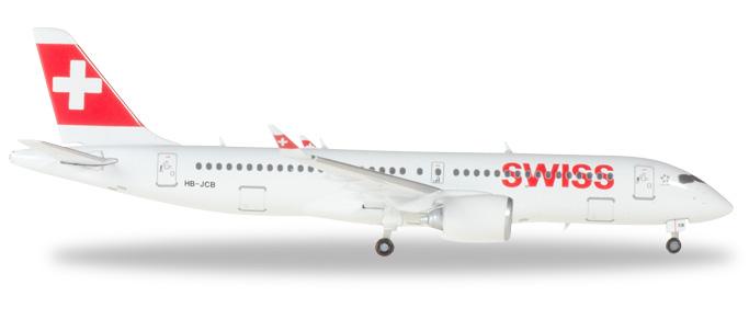 Herpa Wings Swiss International Air Lines Bombardier CS300 1:400 Registration HB-JCB