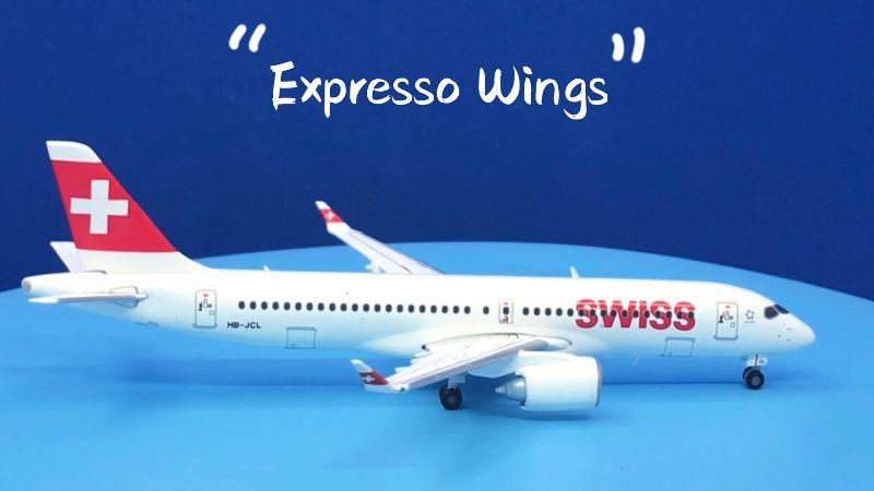 "Herpa Wings Swiss International Air Lines Airbus A220-300 1:400 ""Winterthur"" Registration HB-JCL"