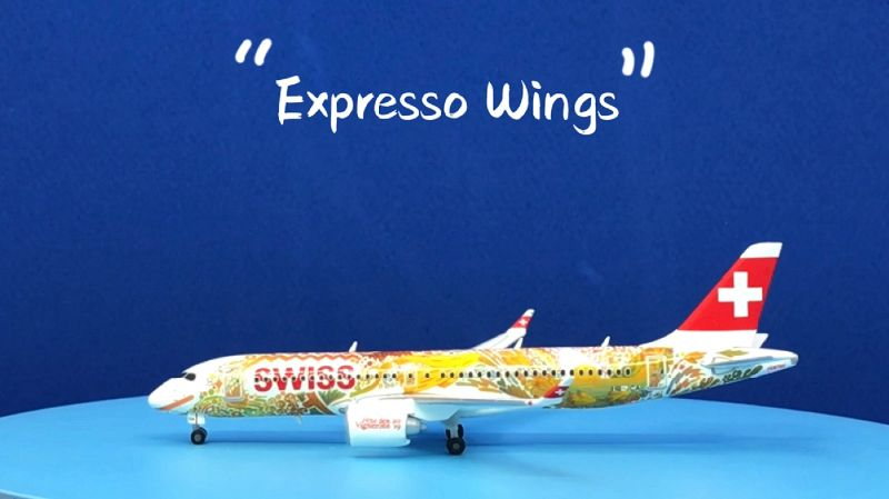 "Herpa Wings Swiss International Air Lines A220-300 ""Fete des Vignerons"" 1:400 Registration HB-JCA"