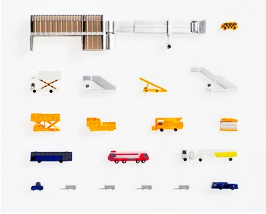 Herpa Wings Airport accessories I (consisting of 19 parts) 1:500