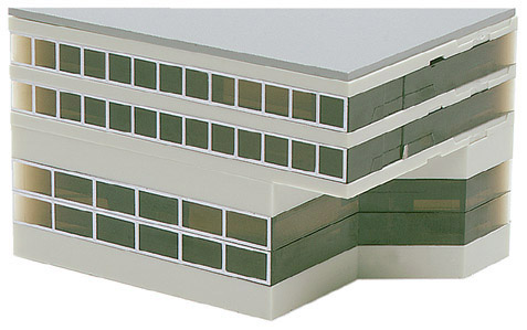 Airport Accessories: Airport building: Side building (high) 1:500