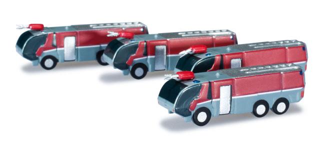 "Airport accessories: fire engine set Content: 4 pieces 1:500 ""Extra Shop"""