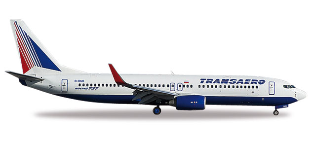 Herpa Wings Transaero Airlines Boeing 737-800 1:500 Registration EI-RUB