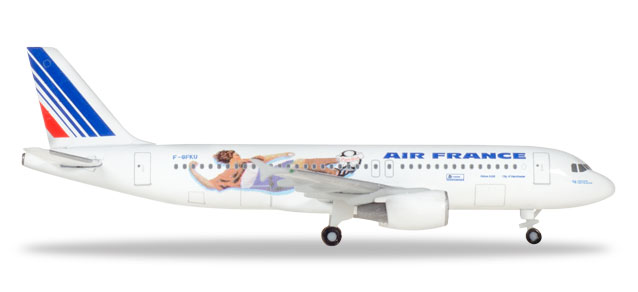 "Herpa Wings Air France Airbus A320 1:500 ""France 1998: Netherlands / Italy"" Registration F-GFKU"