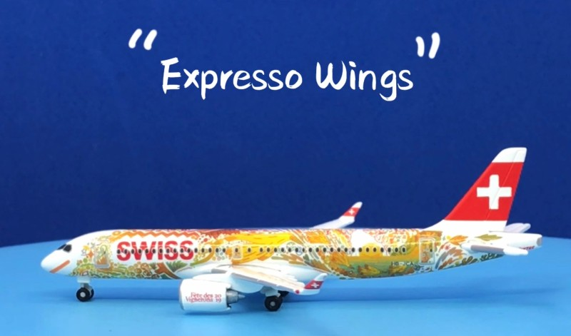 "Herpa Wings Swiss International Air Lines A220-300 ""Fete des Vignerons"" 1:500 Registration HB-JCA"