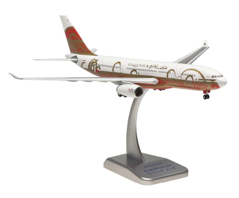 """Hogan Wings Gulf Air Airbus A330-200 1:200 """"50th Ann."""" Registration A40-KF"""