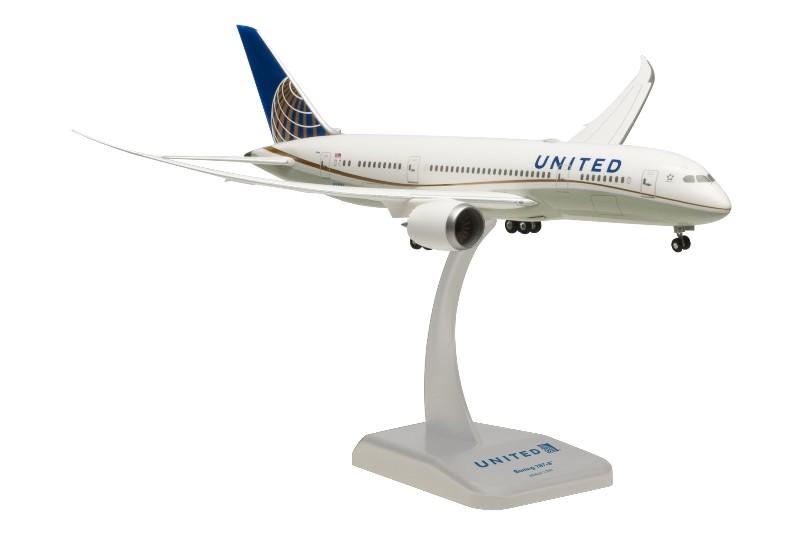 "Hogan Wings United Airlines Boeing 787-8 1:200 ""Wi-Fi Radome"" Registration N28912"
