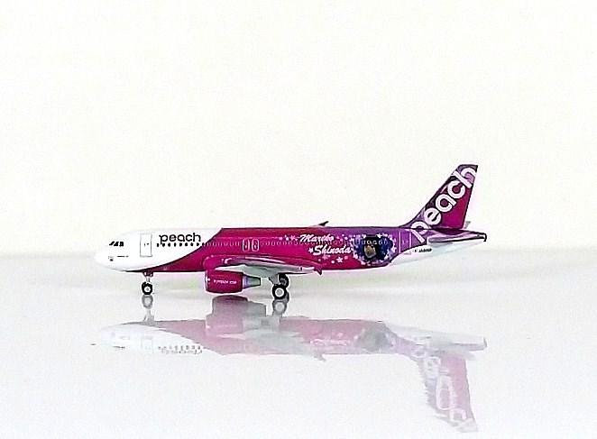 SKY500 Peach Aviation A320-200 1:500 Mariko Shinlda Registration JA805P 桃子航空