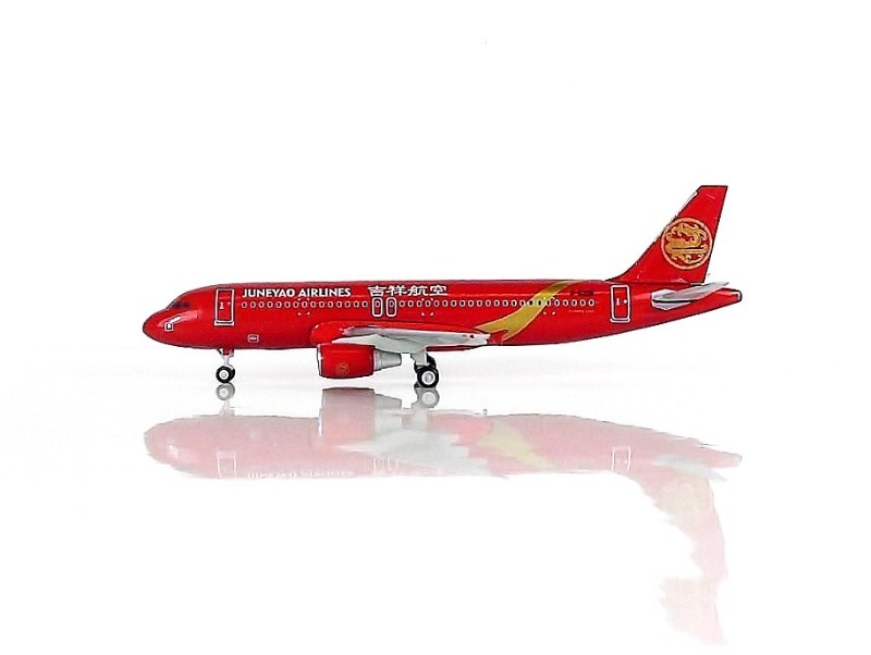 SKY500 Juneyao Airlines Airbus A320 1:500 Red Registration B-6298 吉祥航空