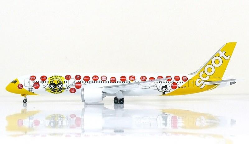 "Sky500 Scoot Boeing 787-9 Dreamliner 1:500 ""Happy 50th BD"" Registration 9V-OJE"