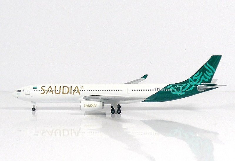 """SKY500 Saudi Arabian Airlines Airbus A330-300 1:500 """"National Day"""" Registration HZ-AQE"""